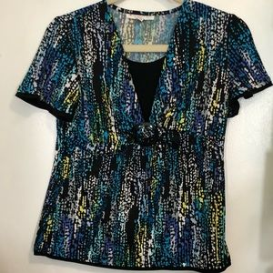 JM Collection Printed Blouse